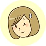 女性辛い表情のアイコン