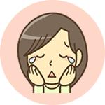 女性泣いているアイコン
